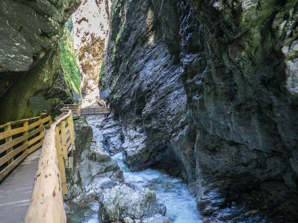 Austria summer holiday - the impressive Liechtensteinklamm gorge