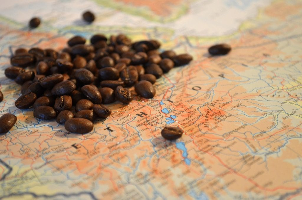 Books about coffee - cultural history coffee map